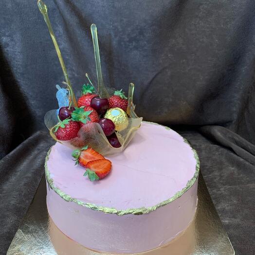 Торт  Фруктовая ваза