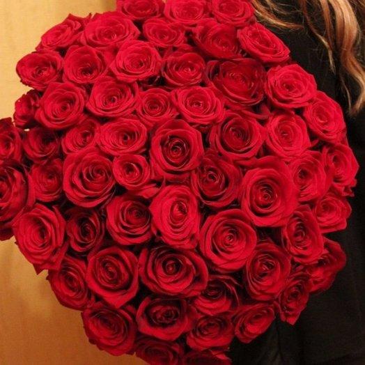 55 роз: букеты цветов на заказ Flowwow