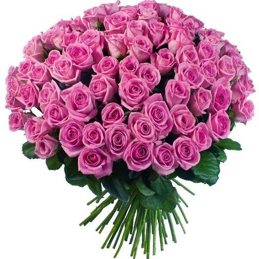 Букет из 101 розовой розы 70 см: букеты цветов на заказ Flowwow