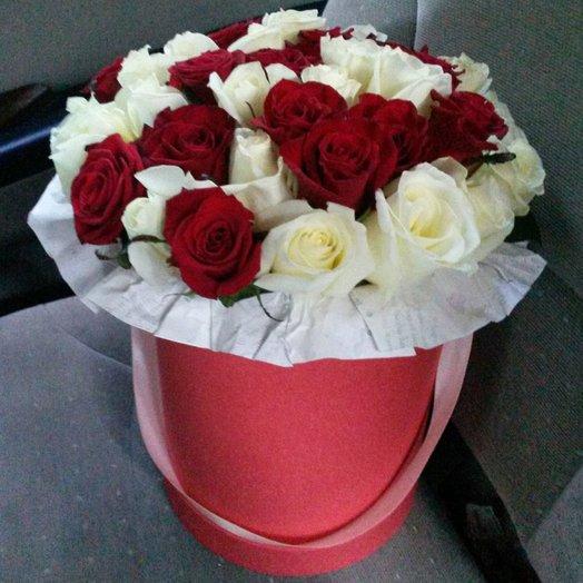 Шляпная коробка f orapremium: букеты цветов на заказ Flowwow