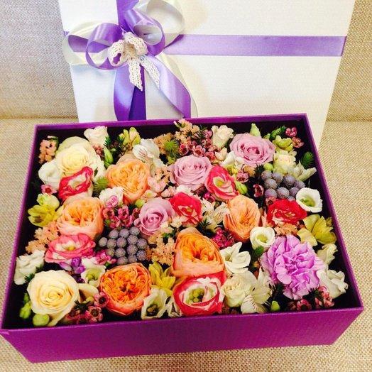 Коробочка с розами Дэвида Остина