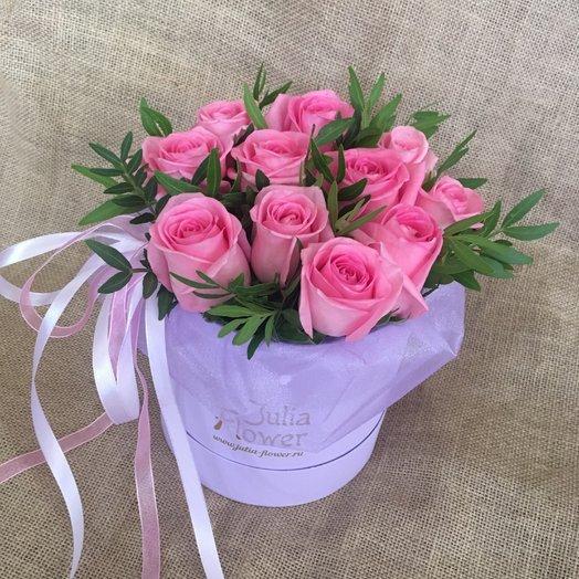 """Розы в коробочке """"Келли"""": букеты цветов на заказ Flowwow"""