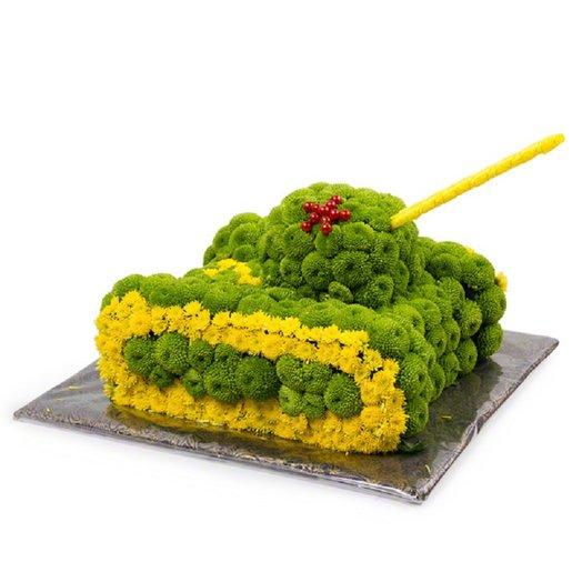 В танке: букеты цветов на заказ Flowwow