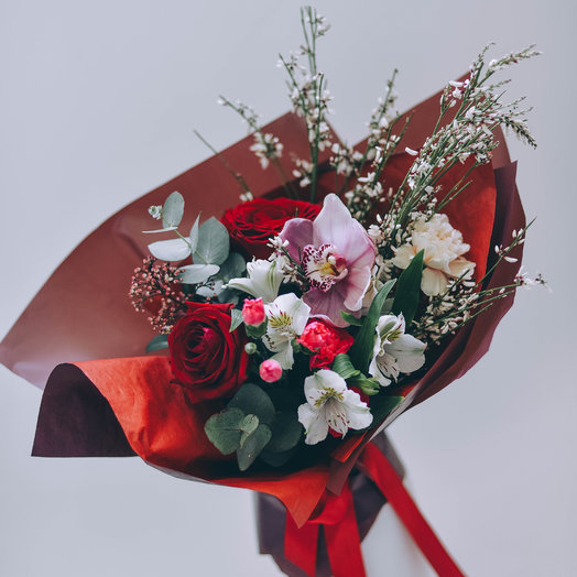Страстное прикосновение: букеты цветов на заказ Flowwow