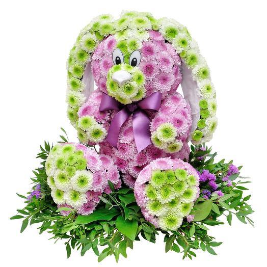 Зайчонок: букеты цветов на заказ Flowwow