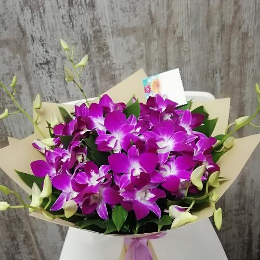 Лиловые орхидеи: букеты цветов на заказ Flowwow