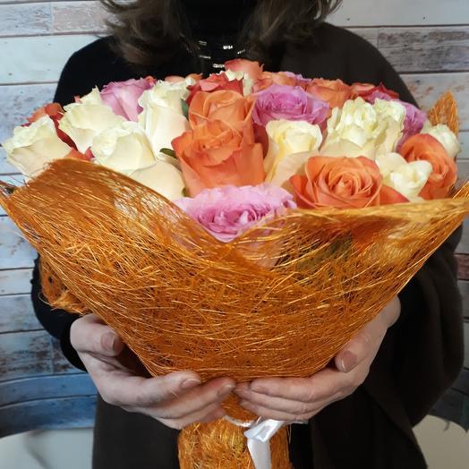 "Букет ""Яркость"": букеты цветов на заказ Flowwow"
