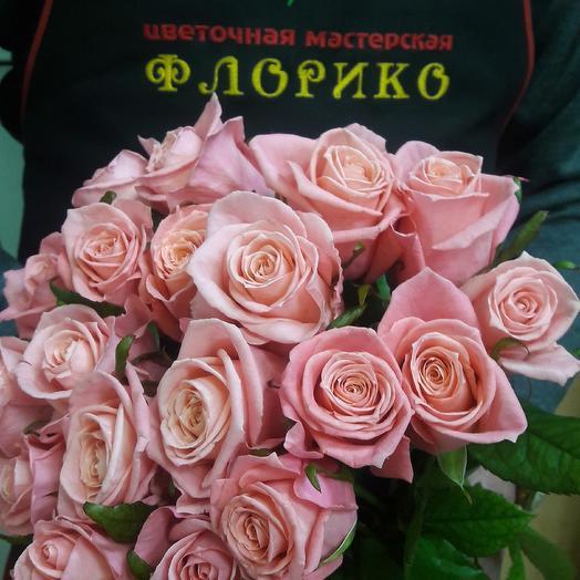 Роза розовая 19: букеты цветов на заказ Flowwow