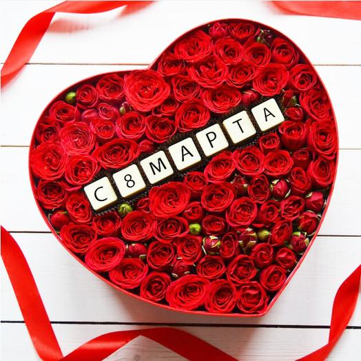 Бельгийский шоколад и розы: 8 марта LARGE RED