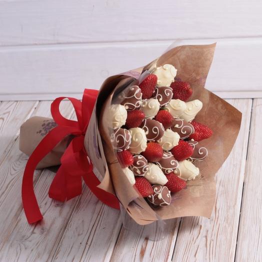 Клубничный Ажур mini. /вар.01: букеты цветов на заказ Flowwow
