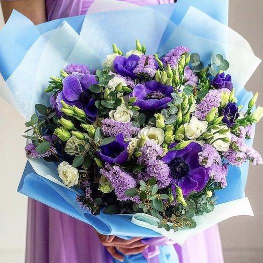Букет Лазурь: букеты цветов на заказ Flowwow