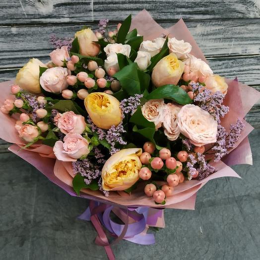 Благородный персик: букеты цветов на заказ Flowwow