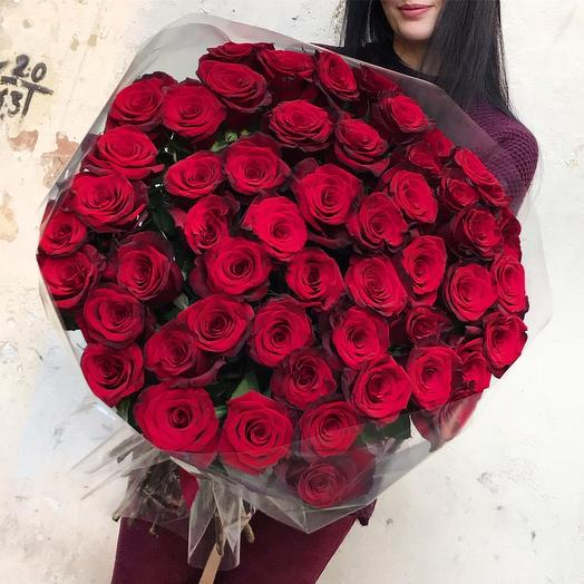 Розы 80см: букеты цветов на заказ Flowwow