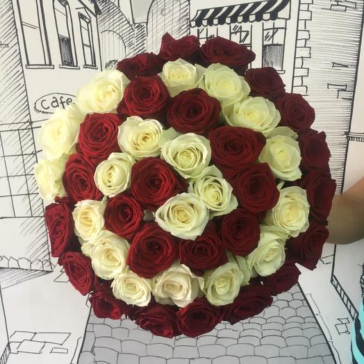 Спираль 51 роза: букеты цветов на заказ Flowwow