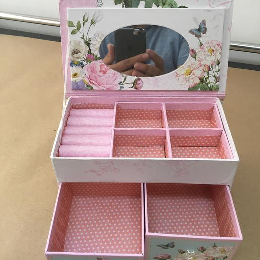 Шкатулка для украшений: букеты цветов на заказ Flowwow