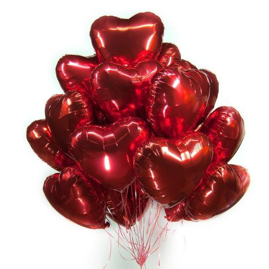 Огромная связка сердец ️: букеты цветов на заказ Flowwow