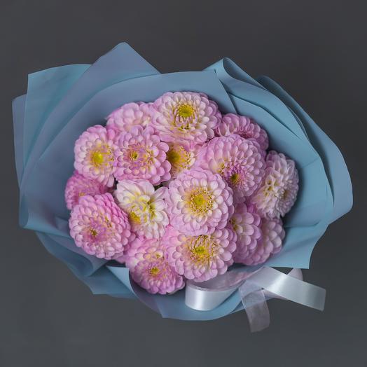 """Букет """"17 Розовых Георгин"""": букеты цветов на заказ Flowwow"""