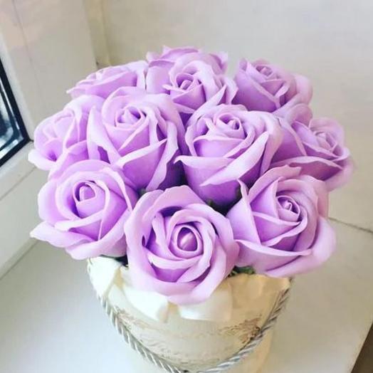 Для самой нежной.Роза из мыла