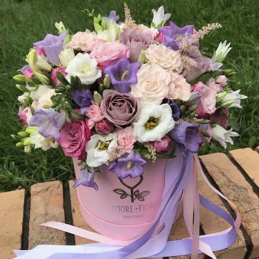 Шляпная коробка 23: букеты цветов на заказ Flowwow