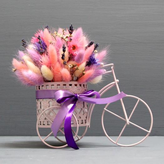 """Интерьерная композиция """"Цветочный велосипед"""""""