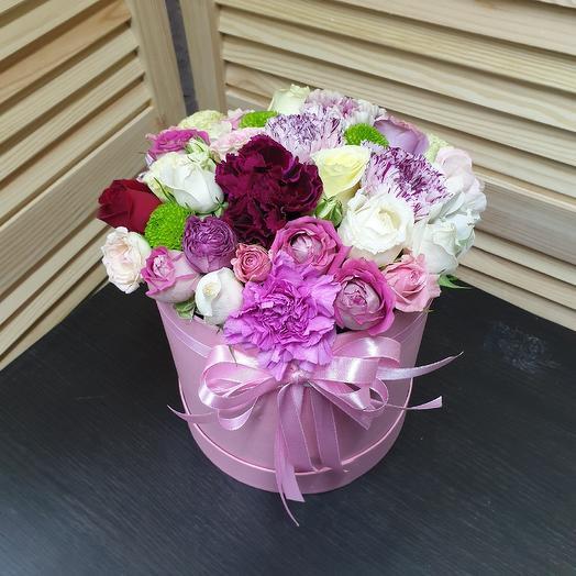 Коробочка из микс цветов: букеты цветов на заказ Flowwow