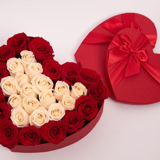 Валентинка с белой сердцевиной