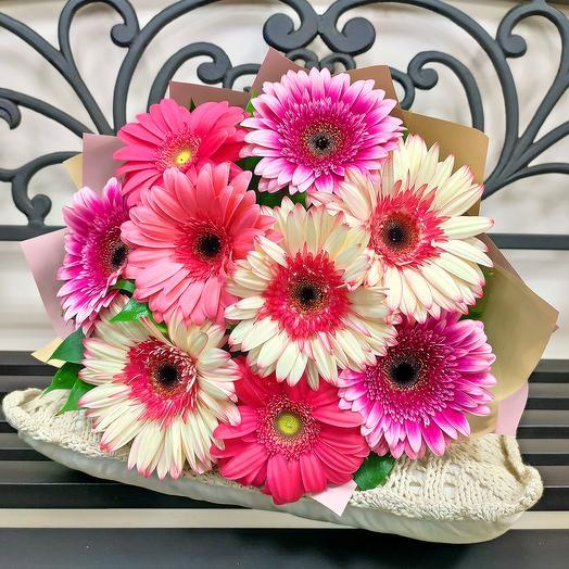Солнышко (розовый микс, классика): букеты цветов на заказ Flowwow