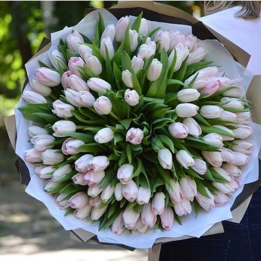 99 розовых тюльпанов