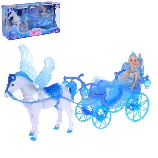 """Карета """"Girl s club"""" с ходячей лошадкой и куклой"""