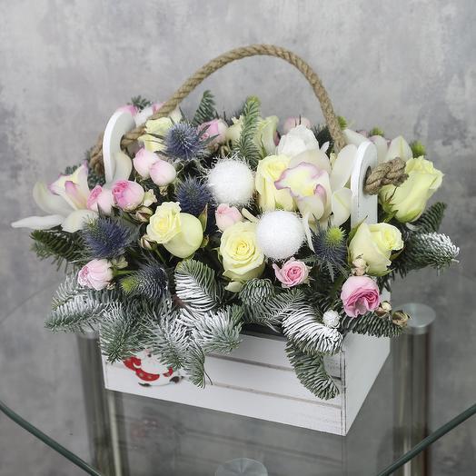 Ящик с цветами «Снежная карусель»
