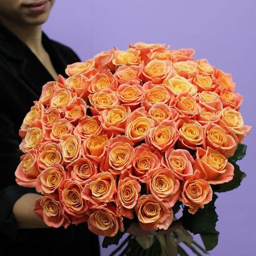 Роза персиковая 51шт 50см