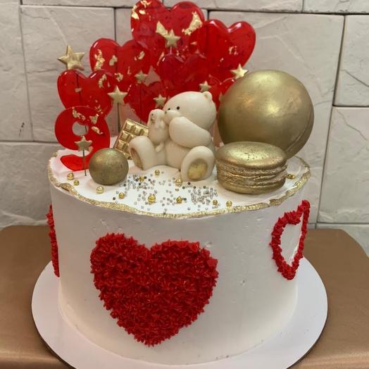 торт Влюблённый мишка