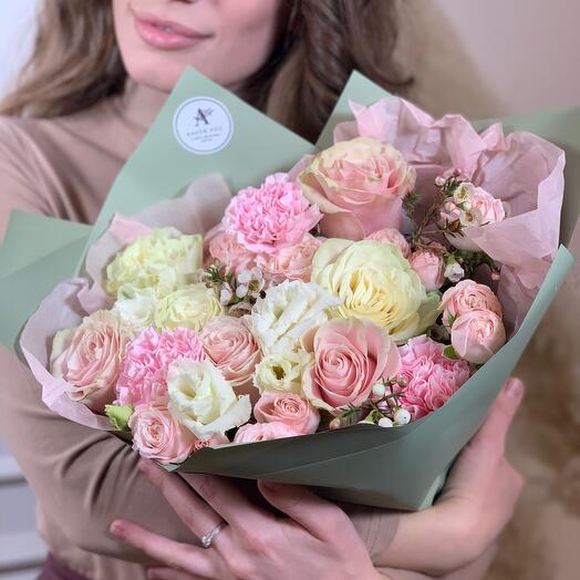 Авторский букет розой Эквадор