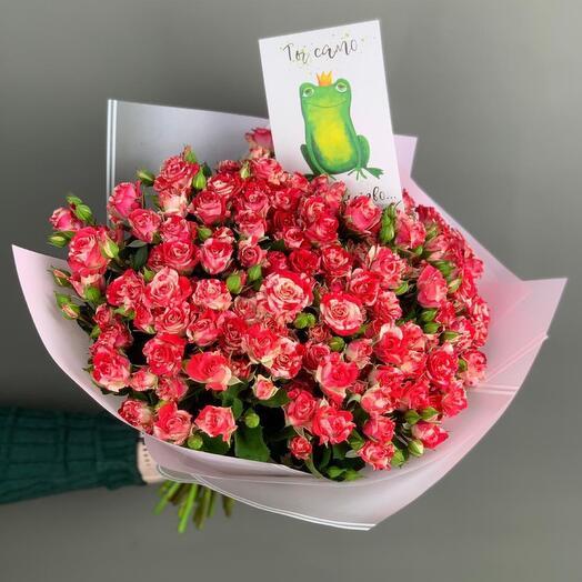 Букет кустовой розы Файер воркс