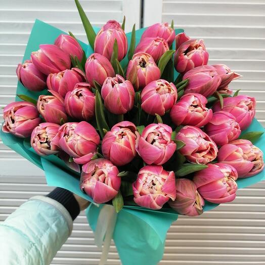 31 пионовидных тюльпанов 💕