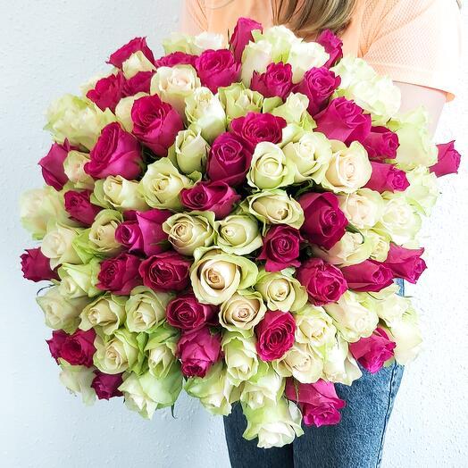 101 Роза 2 цвета