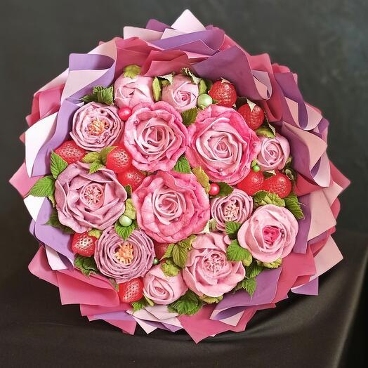 Букет из зефирных роз