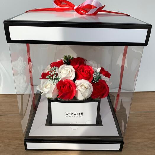 Букет цветов Розы из мыла