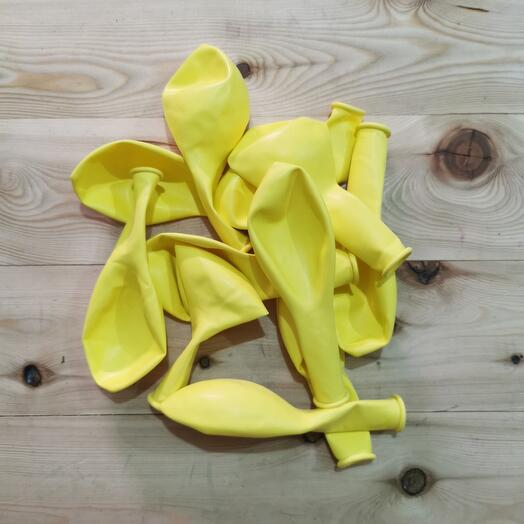 Шар Жёлтый, без рисунка , гелиевый
