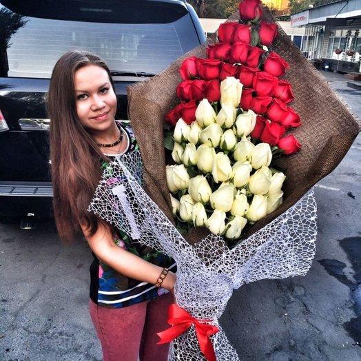 Солидный стиль Роз: букеты цветов на заказ Flowwow