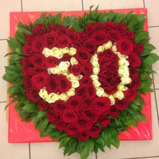 101 роза сердцем: букеты цветов на заказ Flowwow