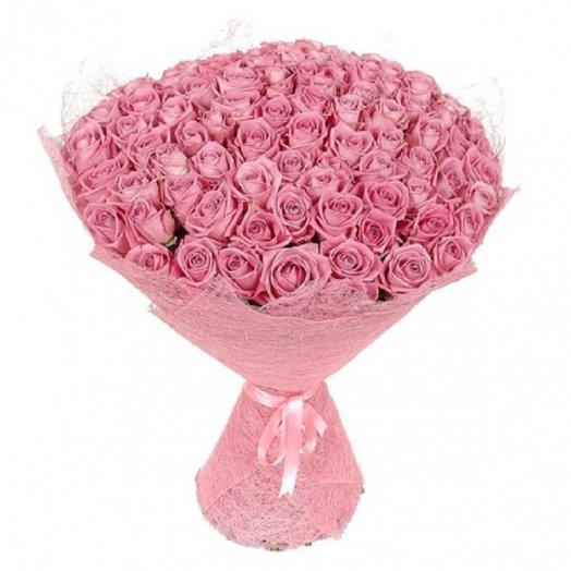 101 Матовая розовая роза