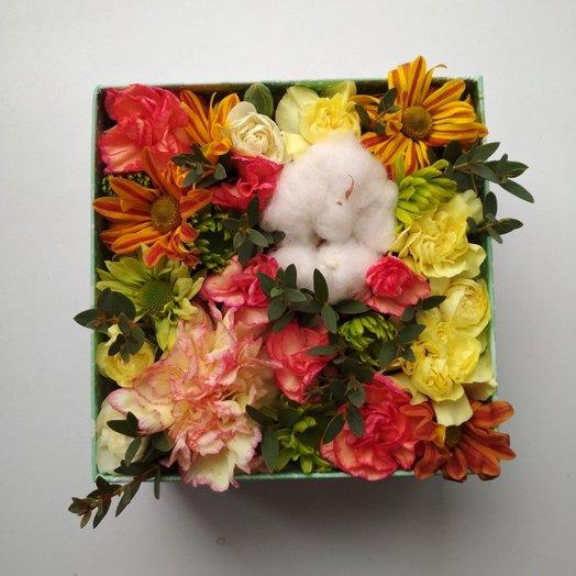 """Коробочка с цветами """"Подарок"""""""