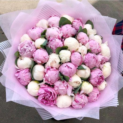 51 пион микс: букеты цветов на заказ Flowwow
