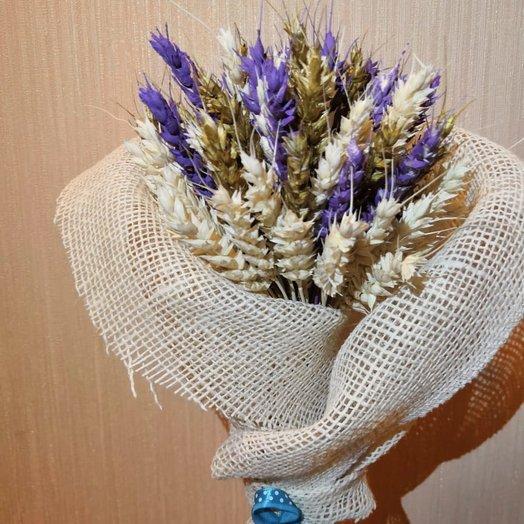 Букет крашеной пшеницы: букеты цветов на заказ Flowwow