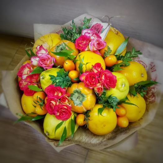 Цитрусовый микс: букеты цветов на заказ Flowwow