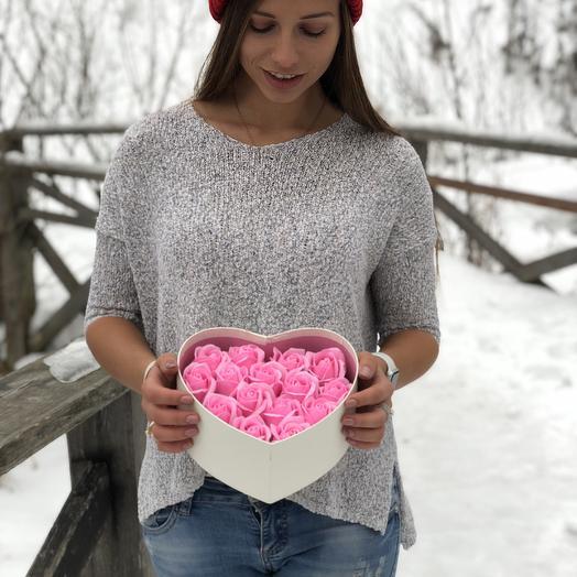 15 роз сердце