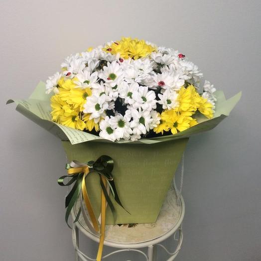 «Ромашковое поле»: букеты цветов на заказ Flowwow