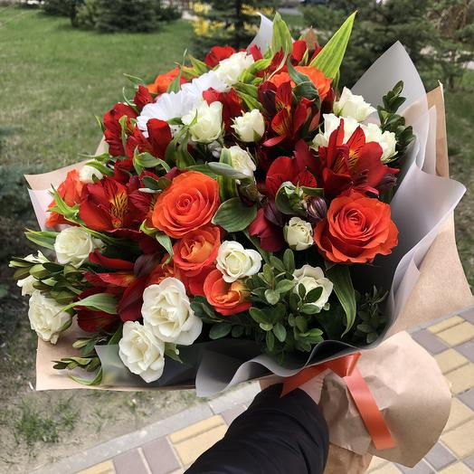 "A Bouquet Of ""Fire"": flowers to order Flowwow"