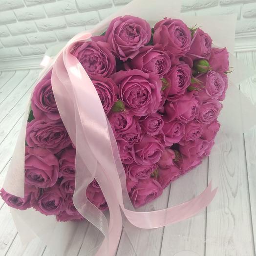 Букет из 39 веточек пионовидной розы Мисти баблс: букеты цветов на заказ Flowwow